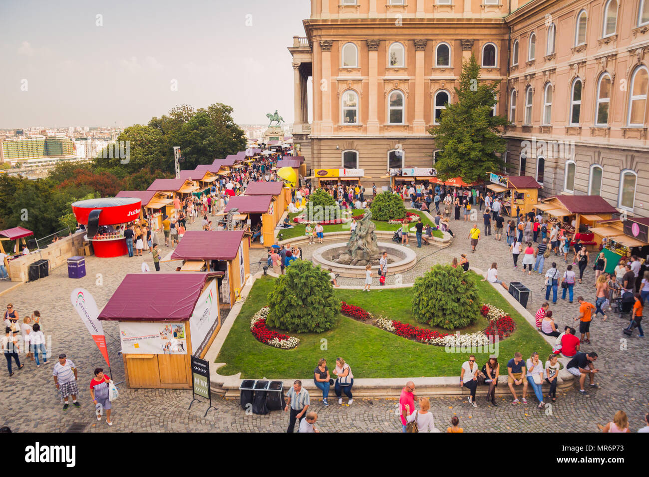 Budapest, Hungary - September 19, 2015: People visit at 'Sweet Days - Chocolate and Candy Festival' that occurred on the dates 18-20.9.15 in Buda Cast - Stock Image