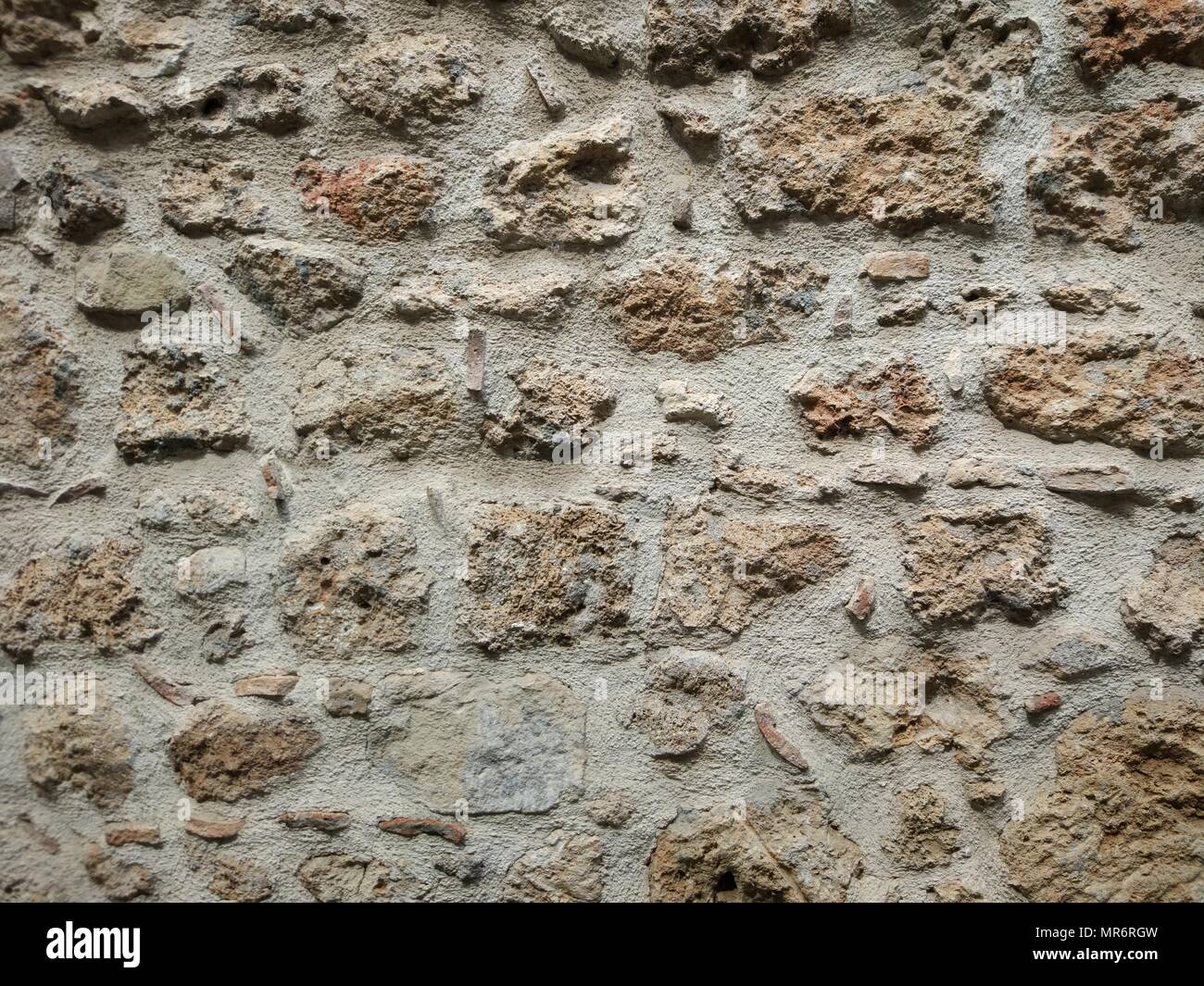 Stained wall surface - Stock Image