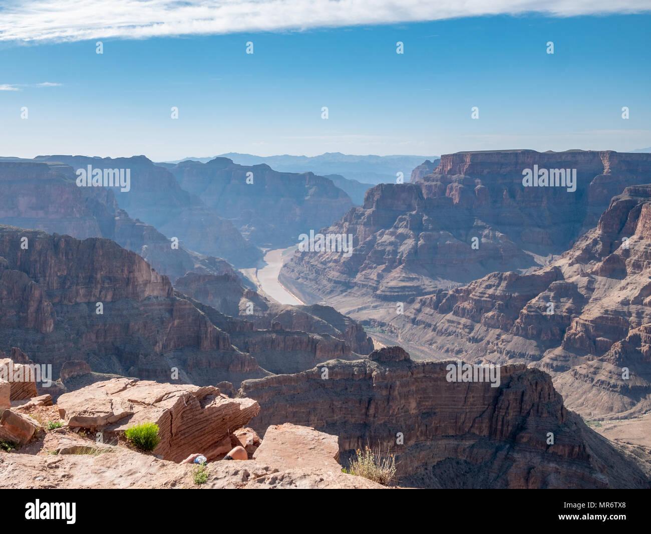 Colorado River Inside the Grand Canyon in Arizona - Stock Image