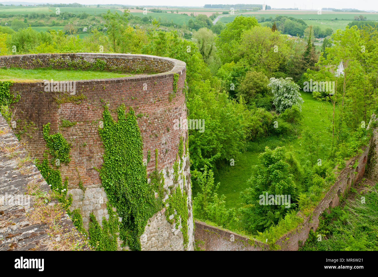 The Vauban fortifications at Montreuil, Northern France - Stock Image