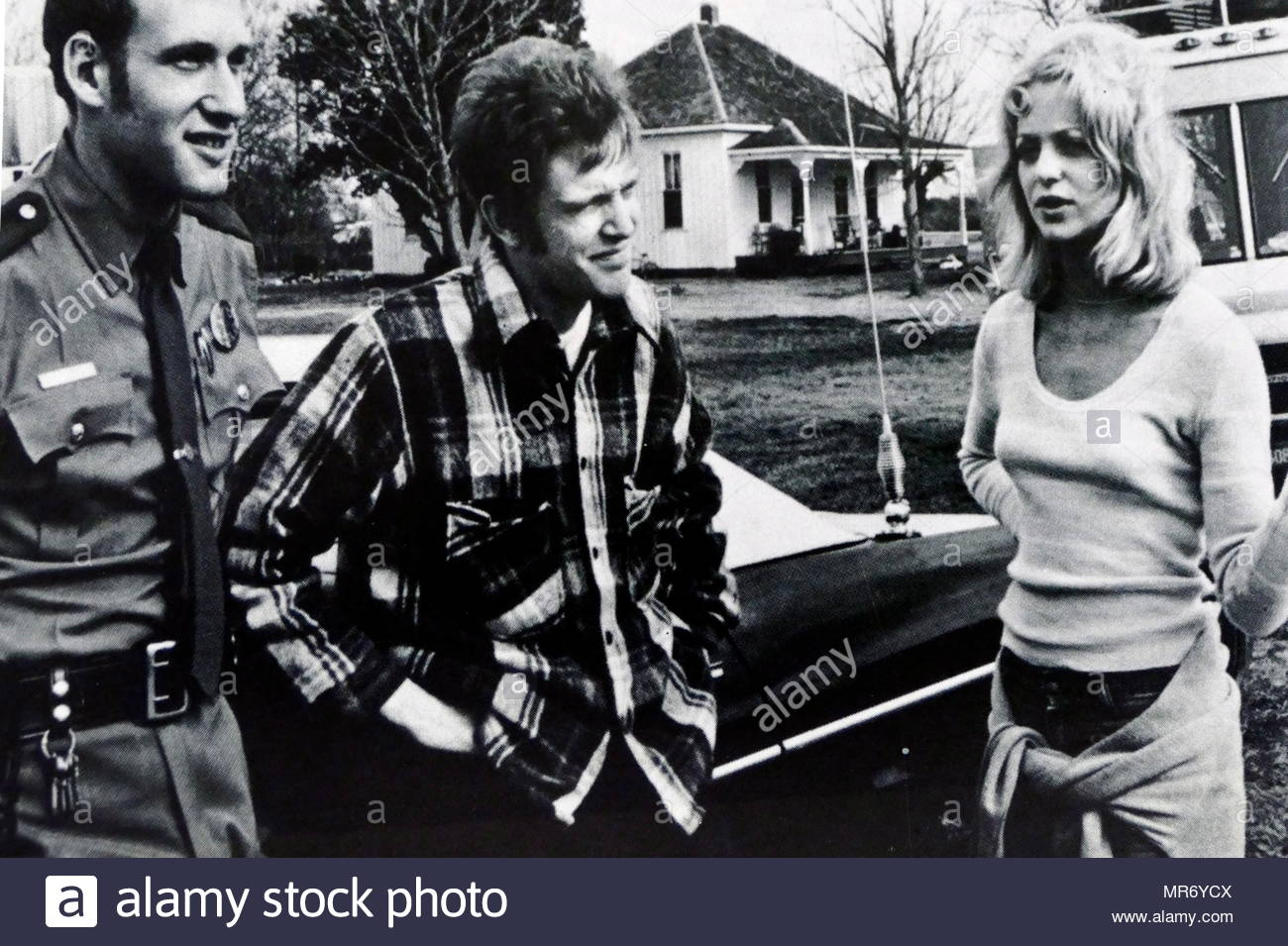 The Sugarland Express is a 1974 American crime drama film co-written and directed by Steven Spielberg in his theatrical feature directorial debut. It stars Goldie Hawn, Ben Johnson, William Atherton, and Michael Sacks. - Stock Image