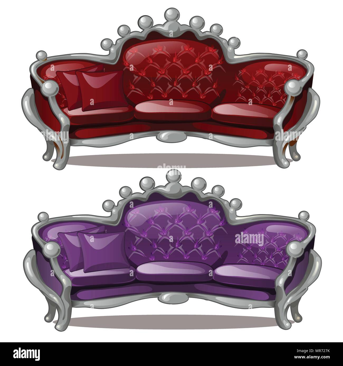 Baroque Ornament Cut Out Stock Images & Pictures