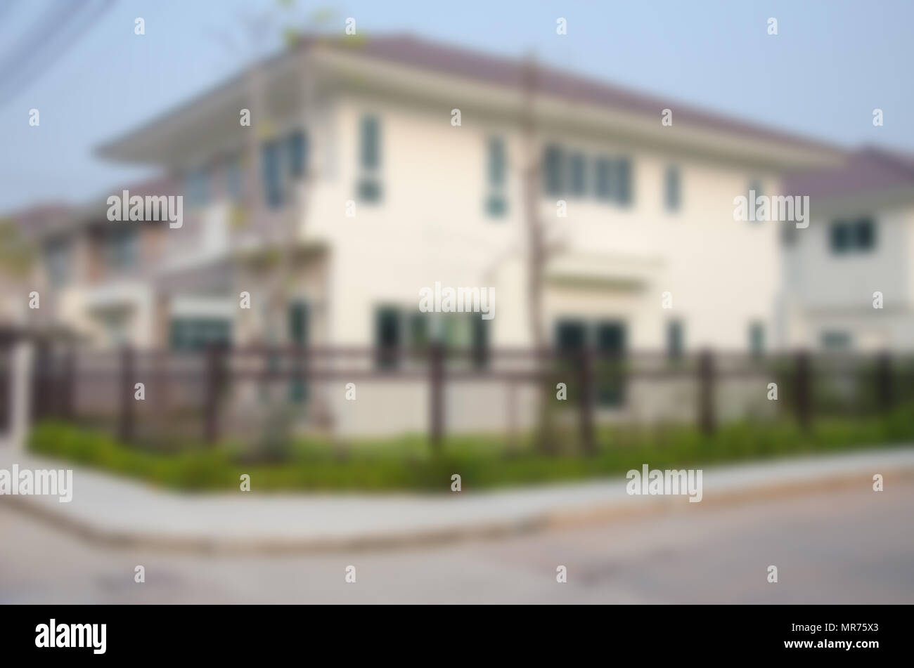 blur image of house for background usage Stock Photo