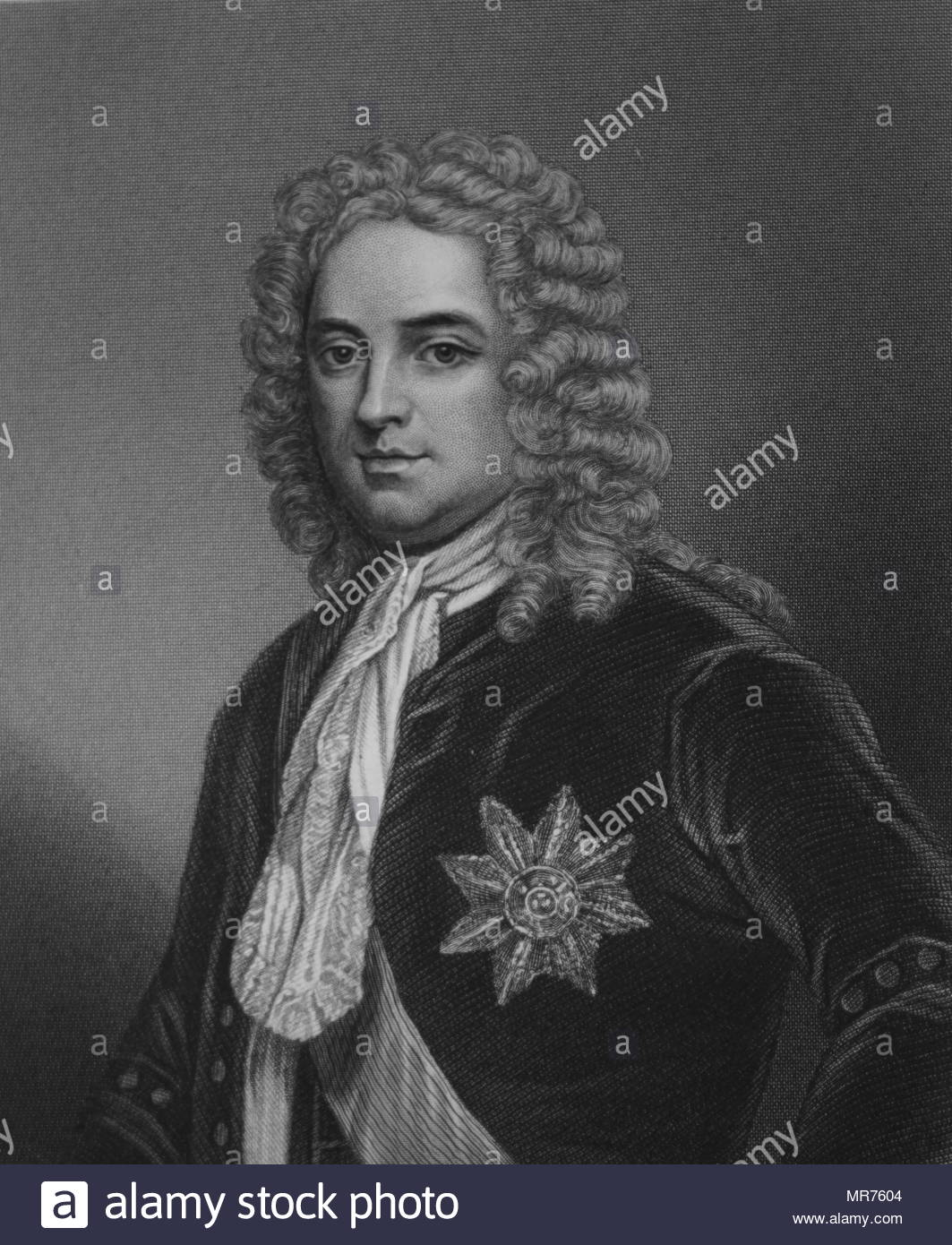 Robert Walpole, (1676 –  1745), British statesman who is generally regarded as the de facto first Prime Minister of Great Britain. holds the record as the longest-serving Prime Minister in British history. - Stock Image