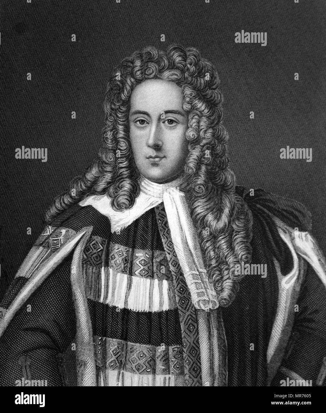 Henry St John, 1st Viscount Bolingbroke (1678–1751), Tory party Jacobite grandee and British statesman - Stock Image
