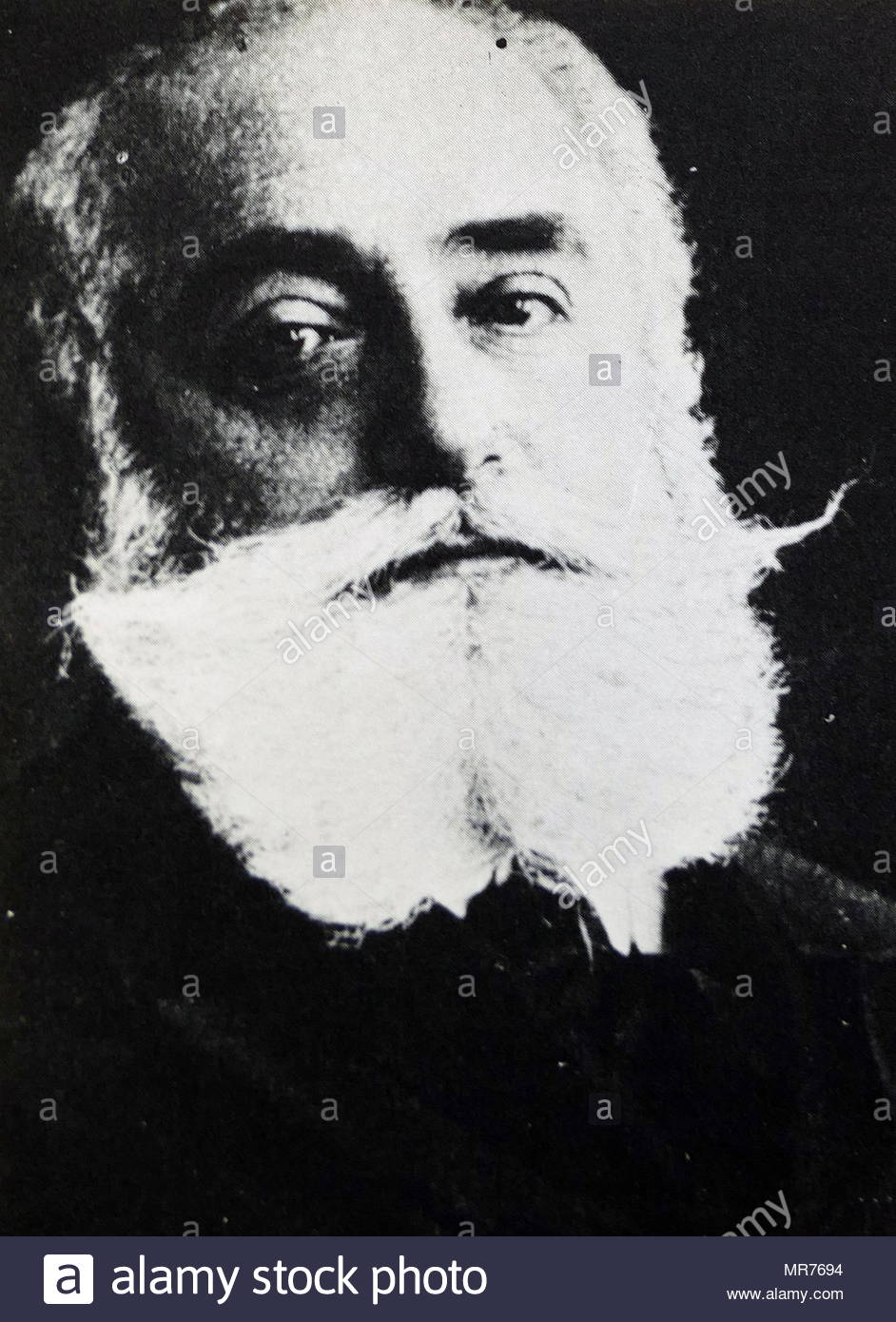 Max Simon Nordau (1849 – 1923), Zionist leader, physician, author, and social critic. co-founder of the World Zionist Organization together with Theodor Herzl - Stock Image