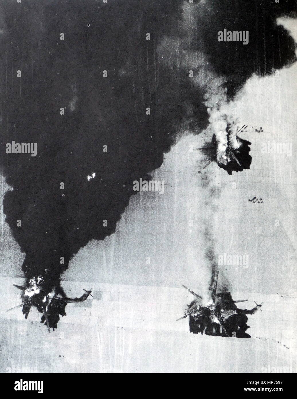 Egyptian aircraft were destroyed by the Israeli Air Force, during the Six Day War - Stock Image