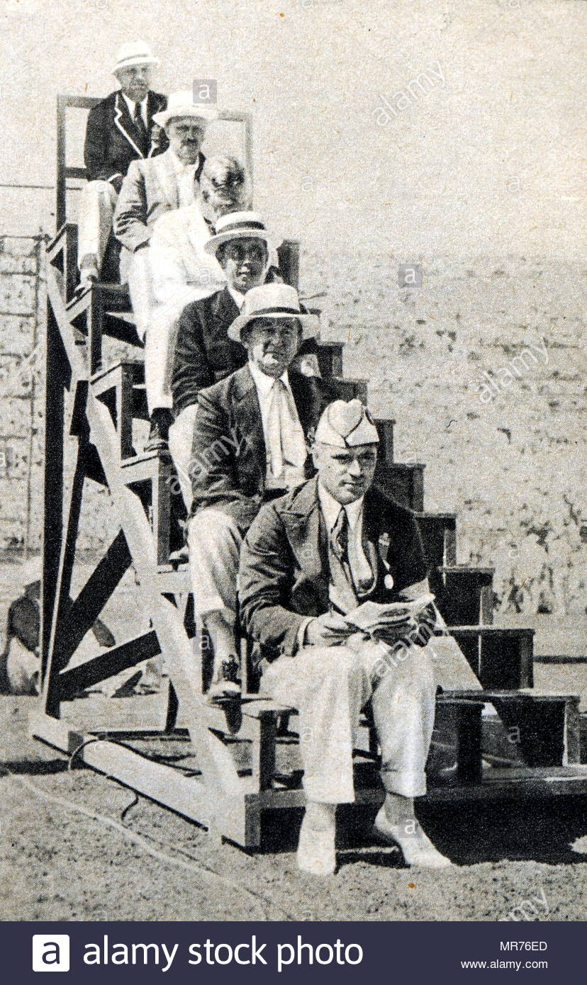 Judges for the 1932 Los Angeles Olympic. Dated 20th Century - Stock Image