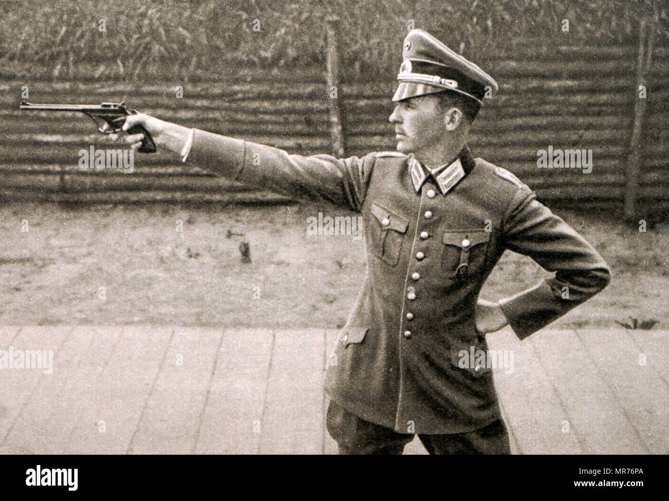 8e16854152efd Photograph of Heinrich Hax (1900 - 1969) at the 1932 Olympic games ...