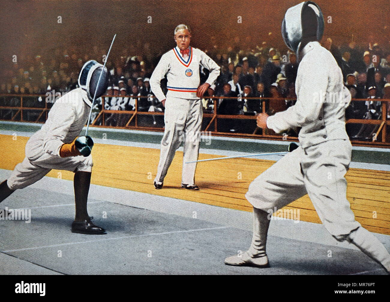 Photograph of Giulio Gaudini (1904 - 1948) and George Piller (1899 - 1960) at the 1932 Olympic games. - Stock Image