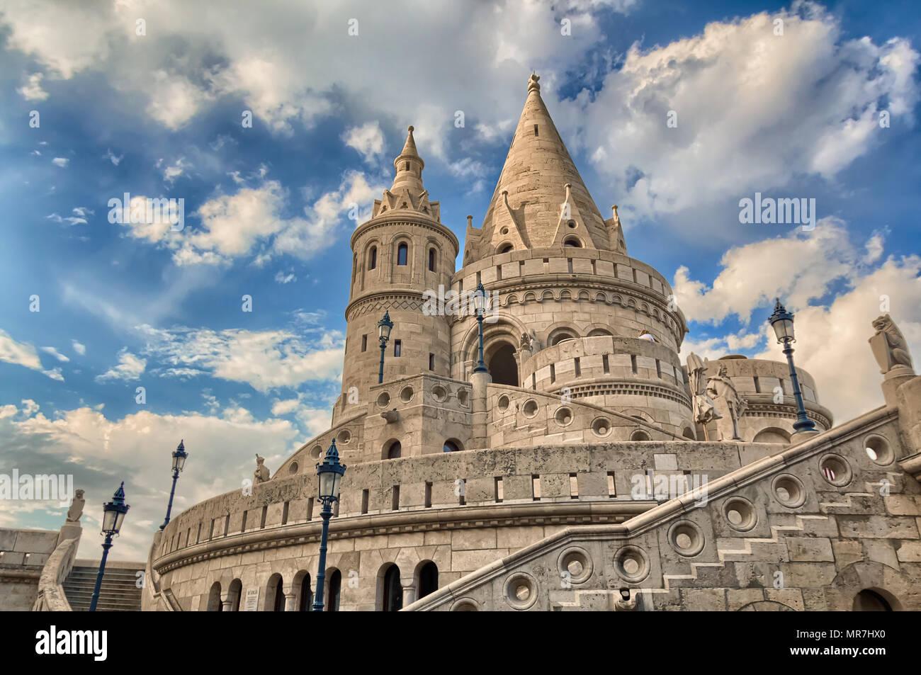 The Fisherman's Bastion, inside Buda Castle district, Budapest, Hungary. - Stock Image
