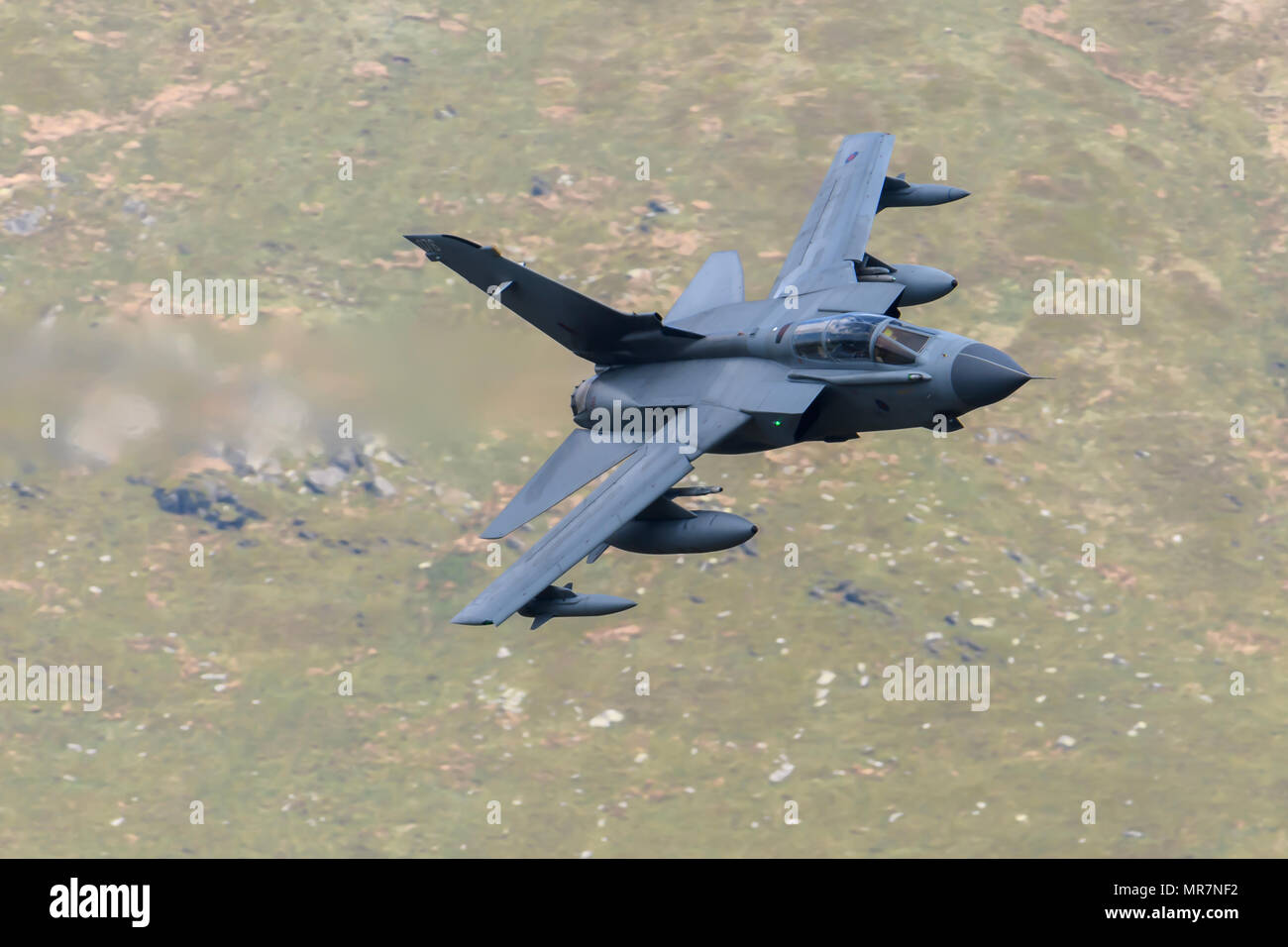 RAF Tornado GR4 flying through the Mack Loop Stock Photo