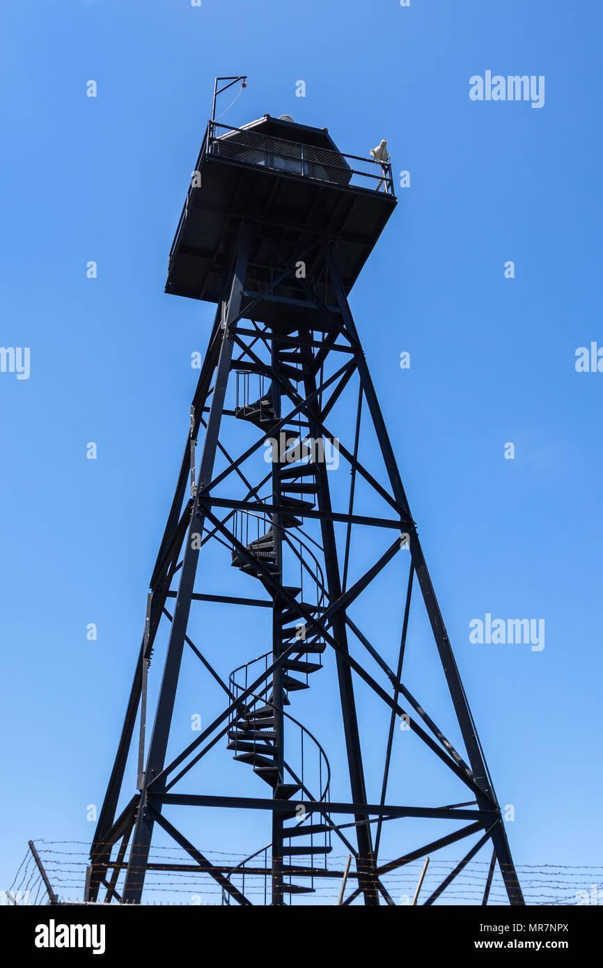 Watch tower, Alcatraz prison, San Francisco, CA, USA. - Stock Image
