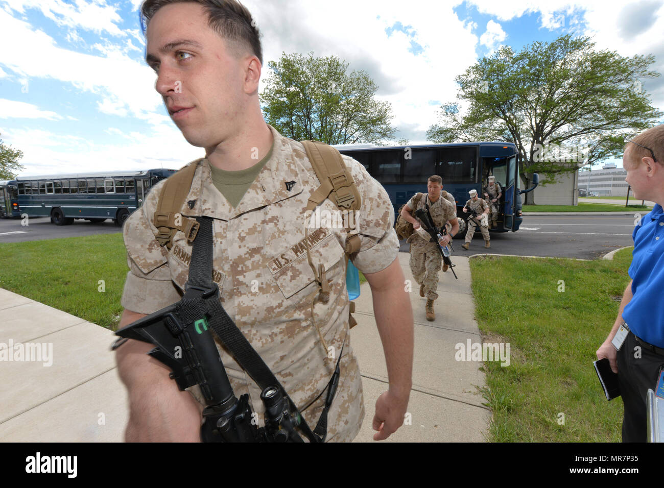 Marine corporal Michael Gammelgaard along with other members of the