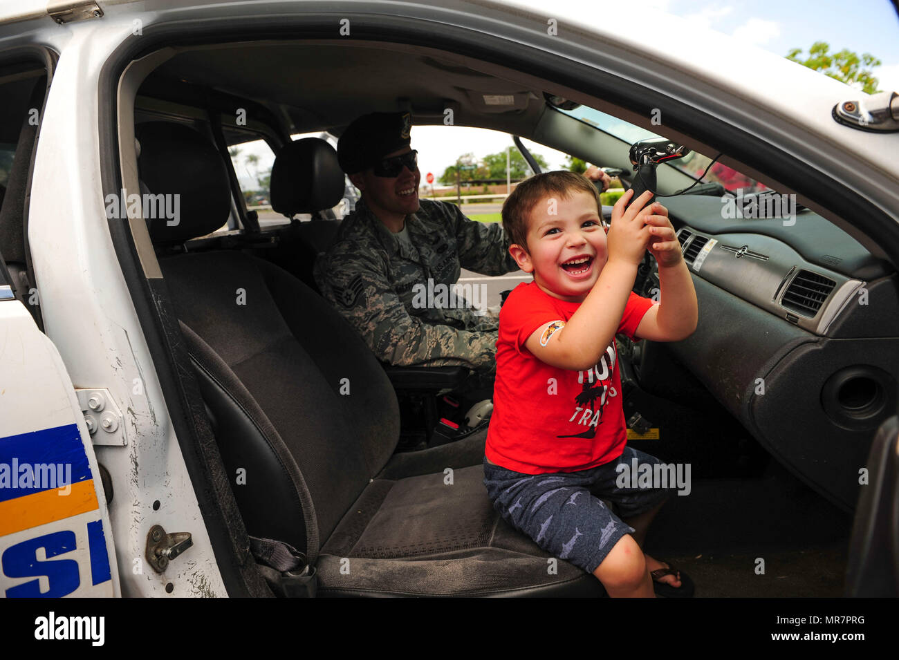 A Young Child Sits In Police Car During The Week Public Demonstration On Joint Base Pearl Harbor Hickam Hawaii May 17 2019