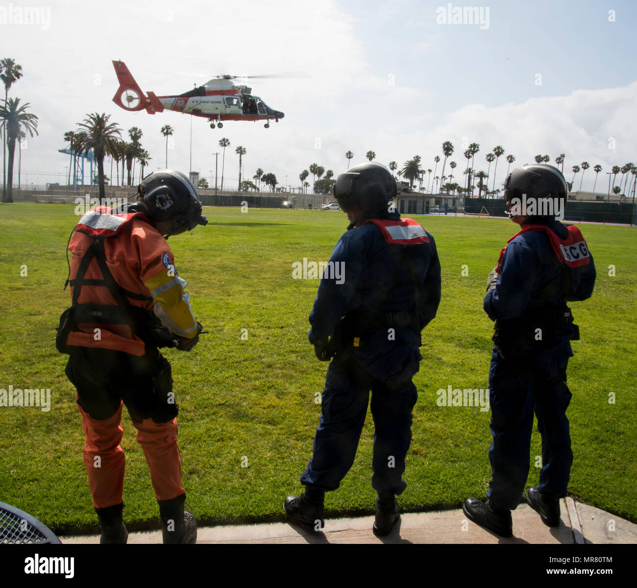 Members of Coast Guard Aids to Navigation Team Los Angeles-Long
