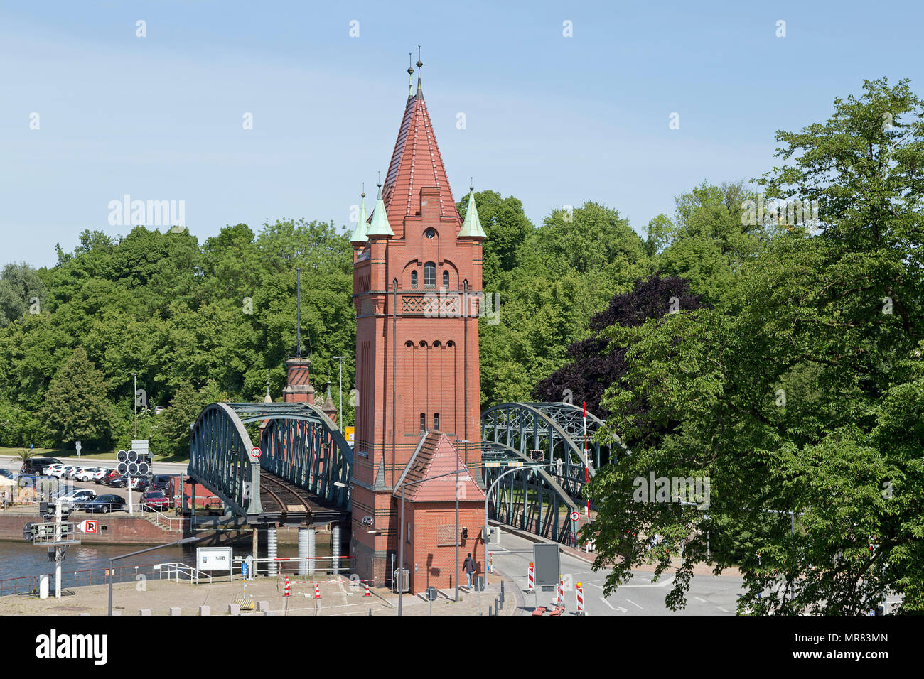 lifting bridges, Luebeck, Schleswig-Holstein, Germany - Stock Image