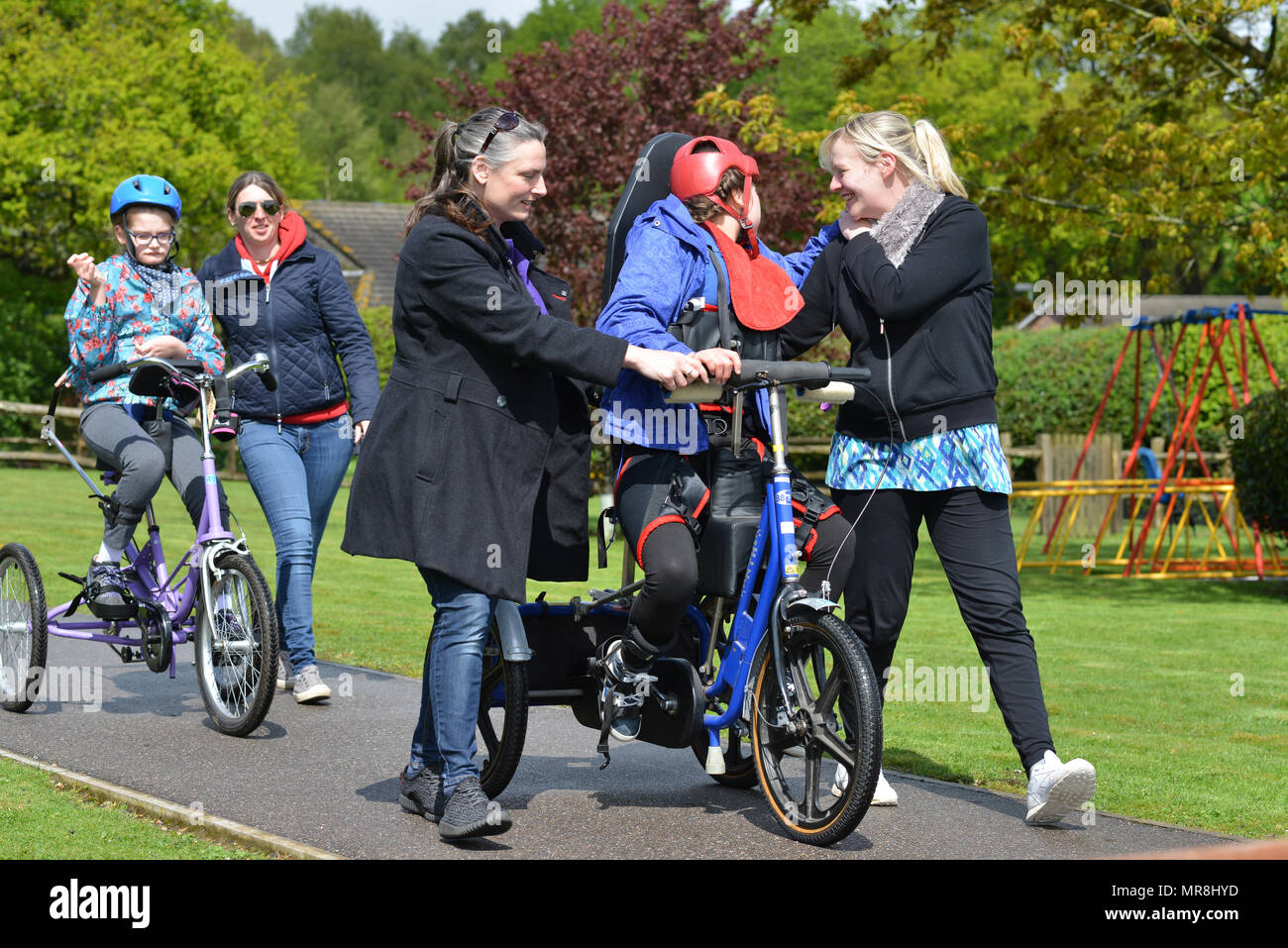 Carers with disabled children at Chailey Heritage Foundation, East Sussex UK - Stock Image