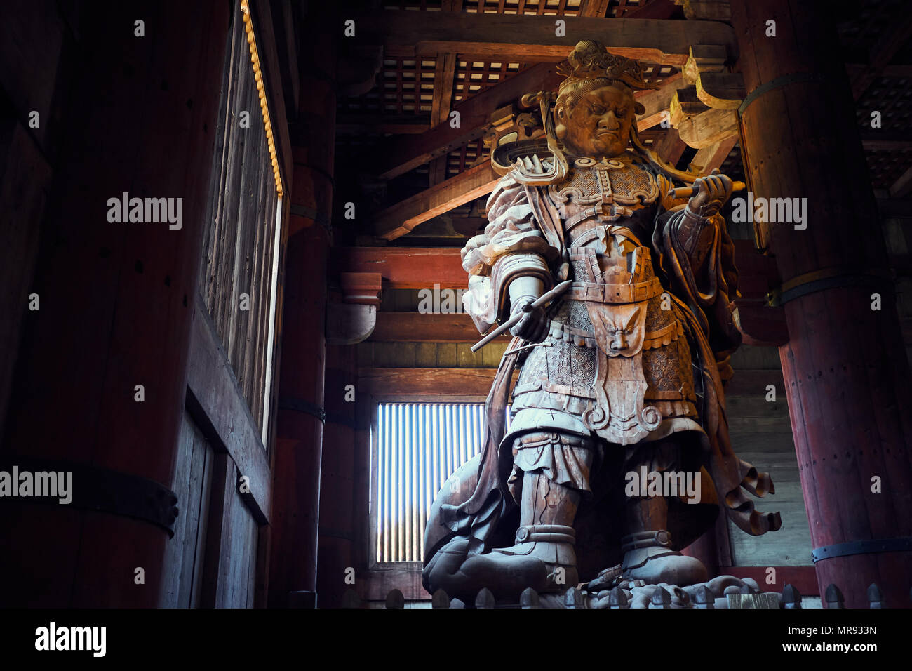 Komokuten inside Todai-ji in Nara, Japan - Stock Image