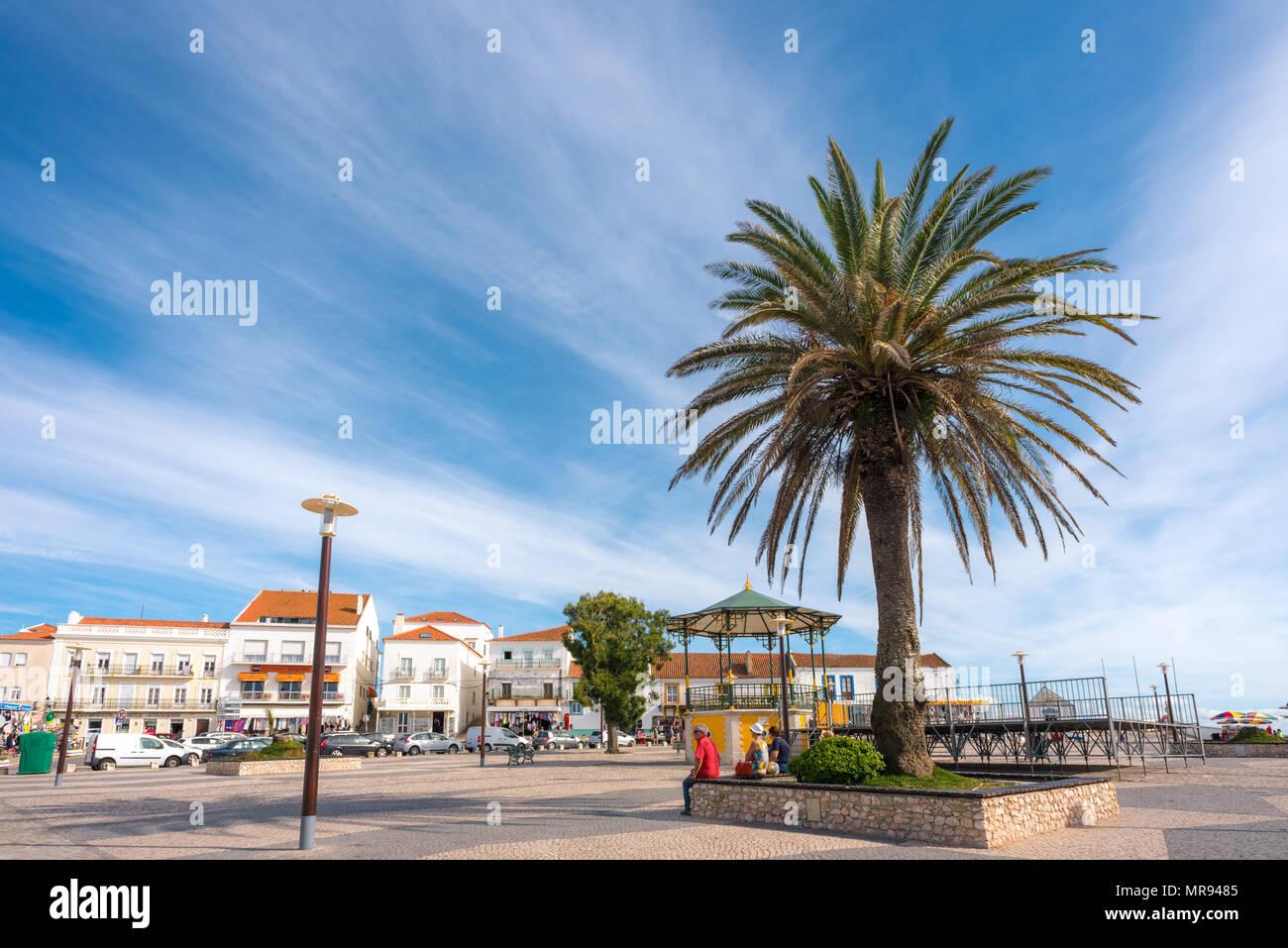 Nazare in Portugal - Stock Image
