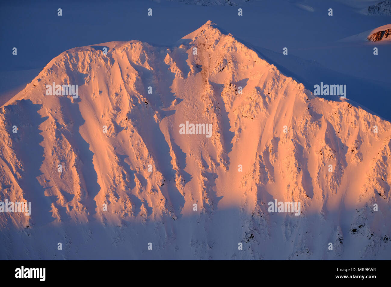 The backside of Whiteout Peak, Chugach Mountains, Alaska - Stock Image