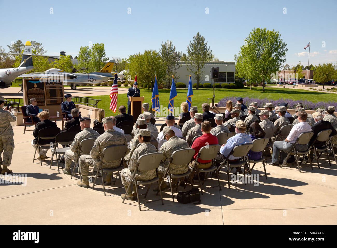 PETERSON AIR FORCE BASE, Colo  – Members of Team Pete attend