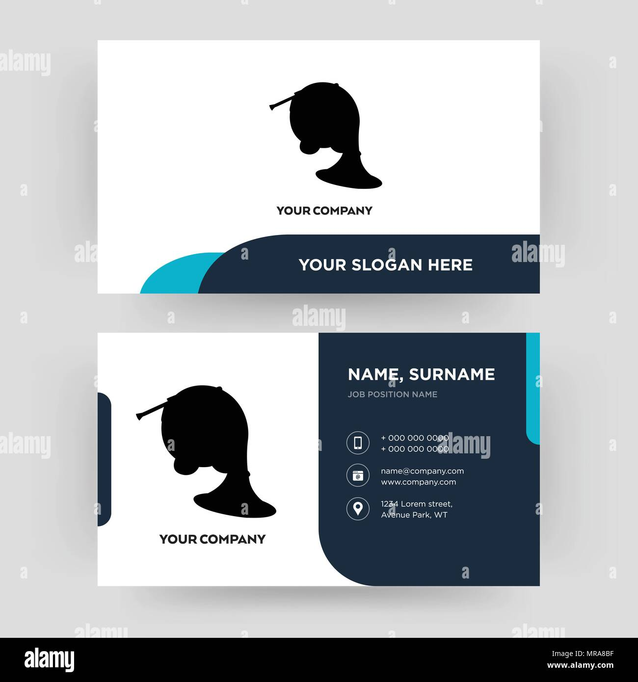 French horn business card design template visiting for your french horn business card design template visiting for your company modern creative and clean identity card vector colourmoves