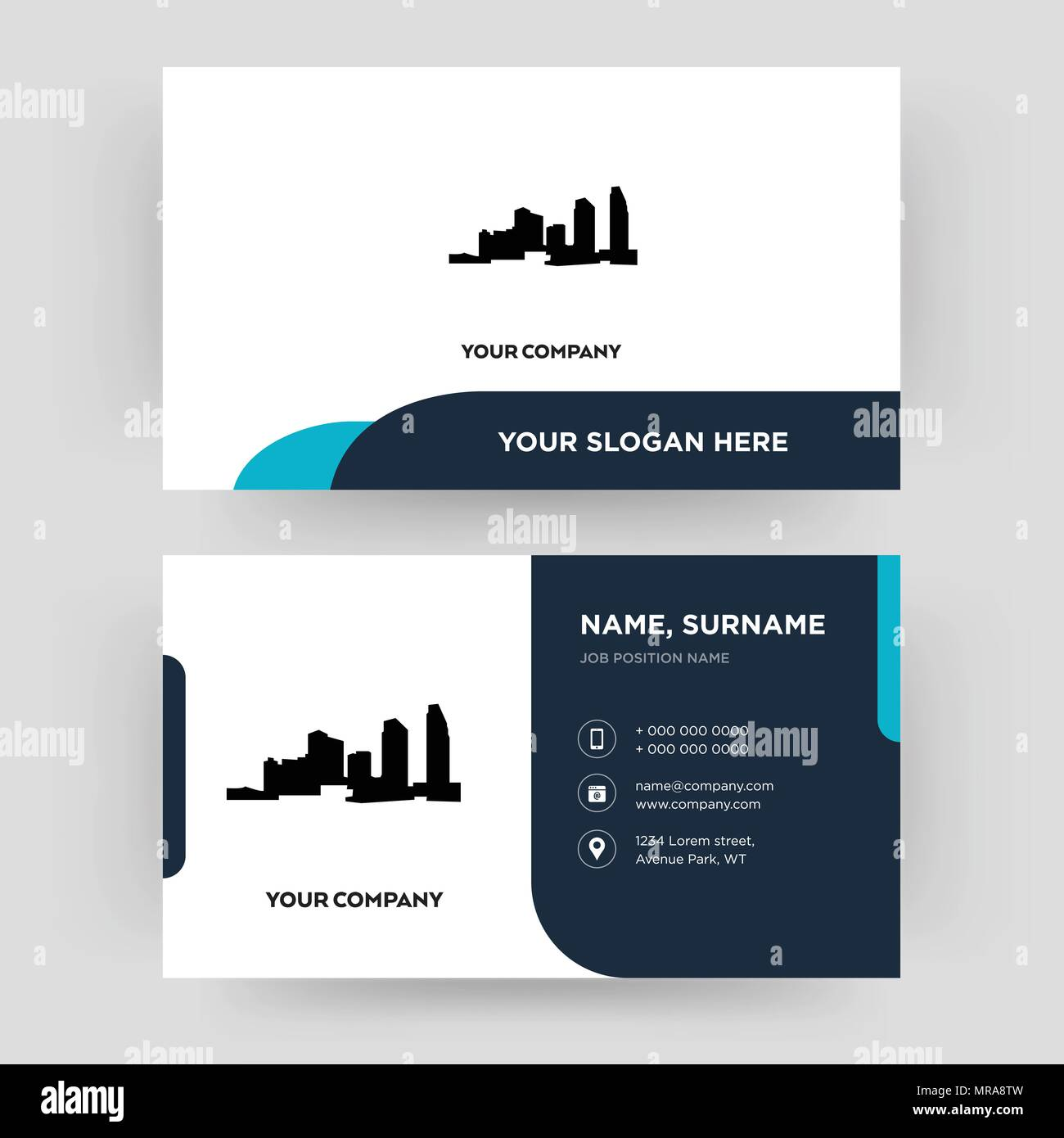 Long island business card design template visiting for your long island business card design template visiting for your company modern creative and clean identity card vector reheart Gallery