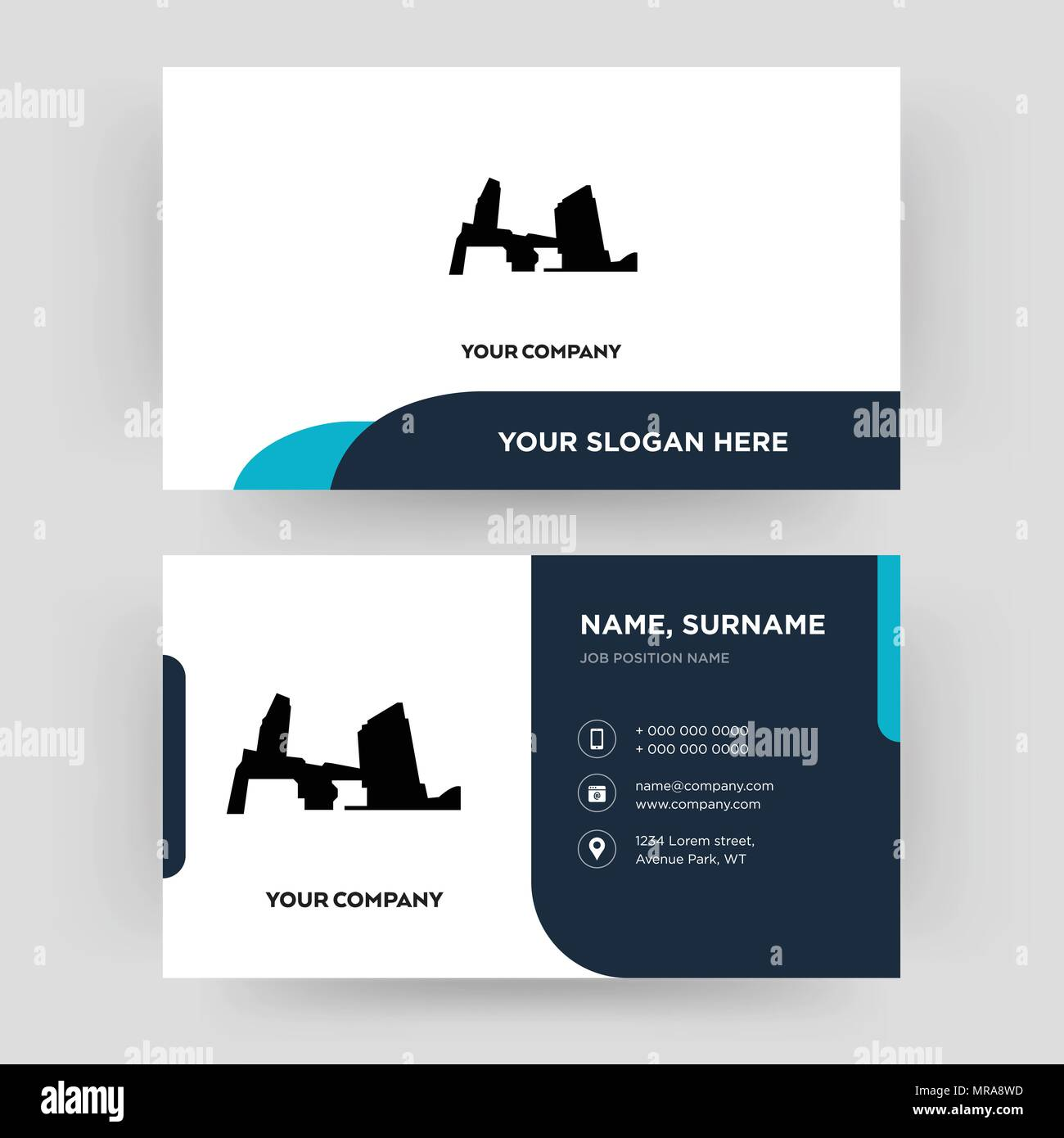 Long island business card design template visiting for your long island business card design template visiting for your company modern creative and clean identity card vector reheart Image collections