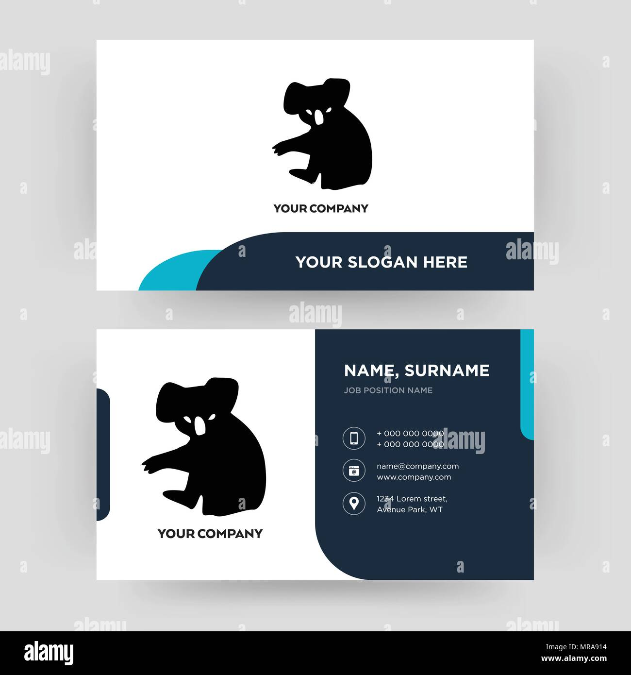 koala business card design template visiting for your company