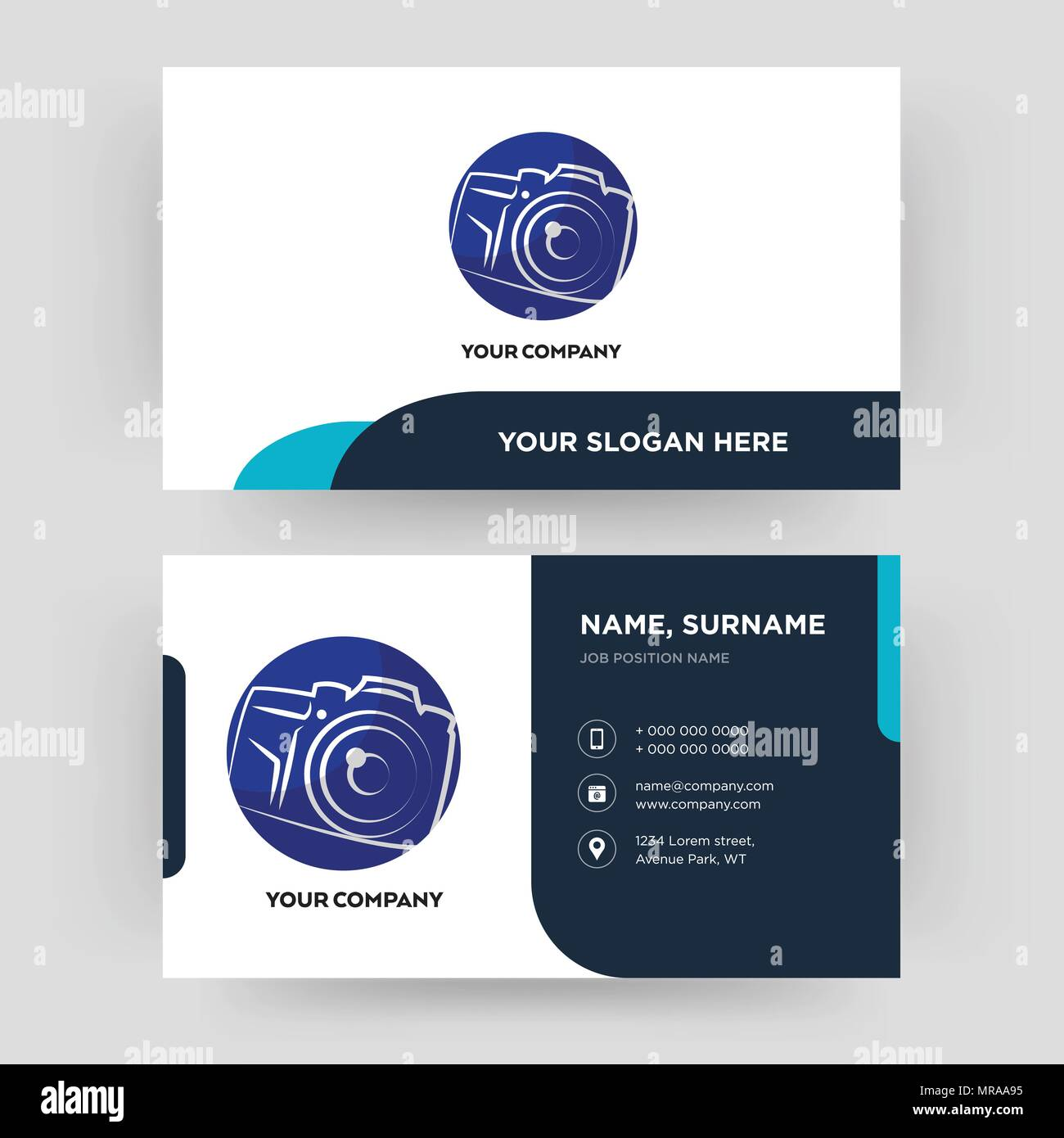 Photography Camera Business Card Design Template Visiting For Your
