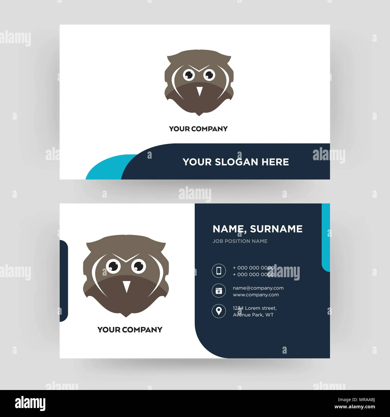 Free owl business card design template visiting for your company free owl business card design template visiting for your company modern creative and clean identity card vector colourmoves