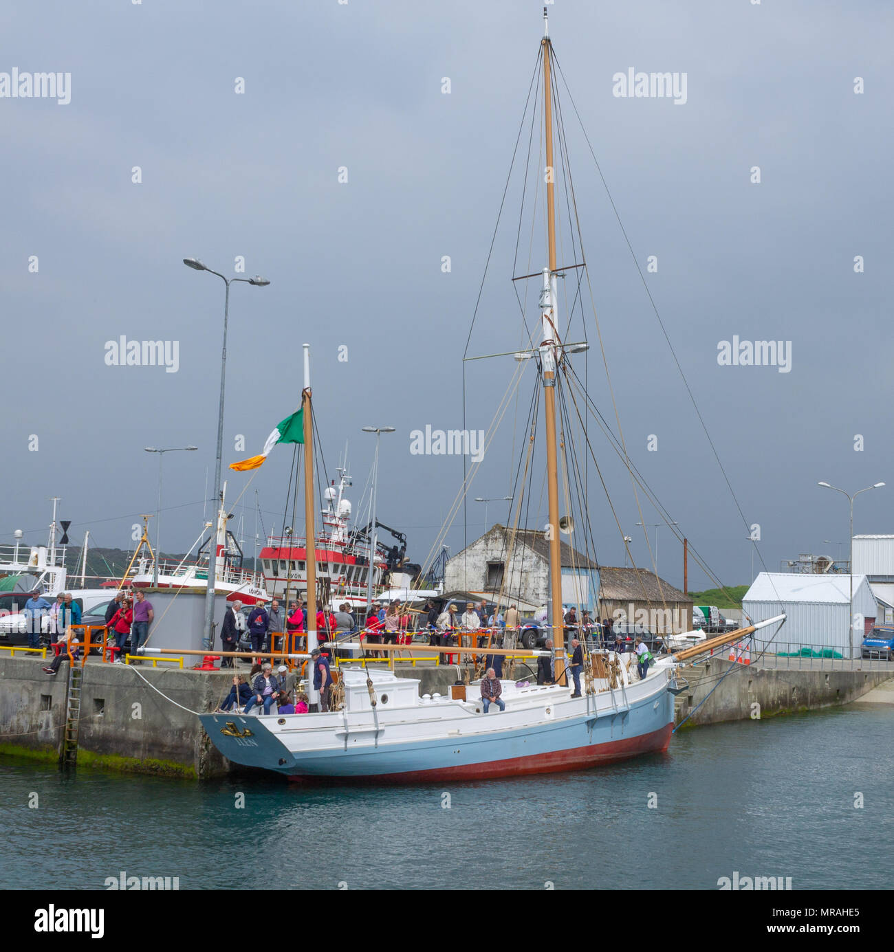 Baltimore Ireland 26th May 2018 Wooden Boats Of All Shapes And