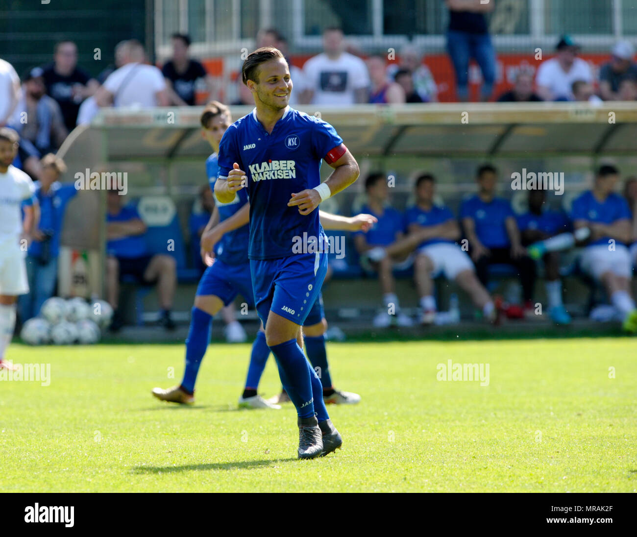 Karlsruhe, Deutschland. 26th May, 2018. Kai Kleinert (KSC). GES/Football/Oberliga: Karlsruher SC 2 - FV Ravensburg, 26.05.2018 - | usage worldwide Credit: dpa/Alamy Live News - Stock Image