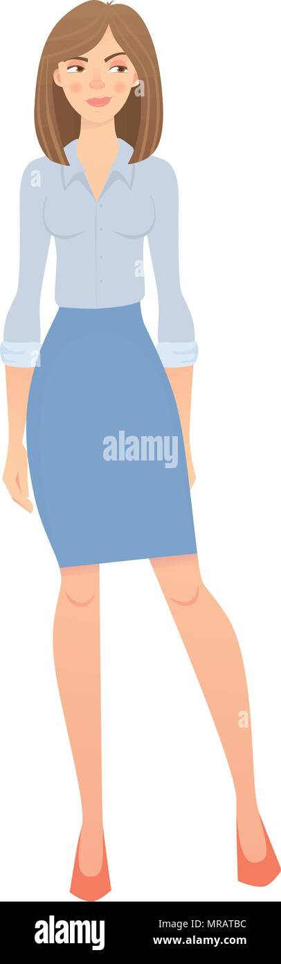 business woman isolated - Stock Vector