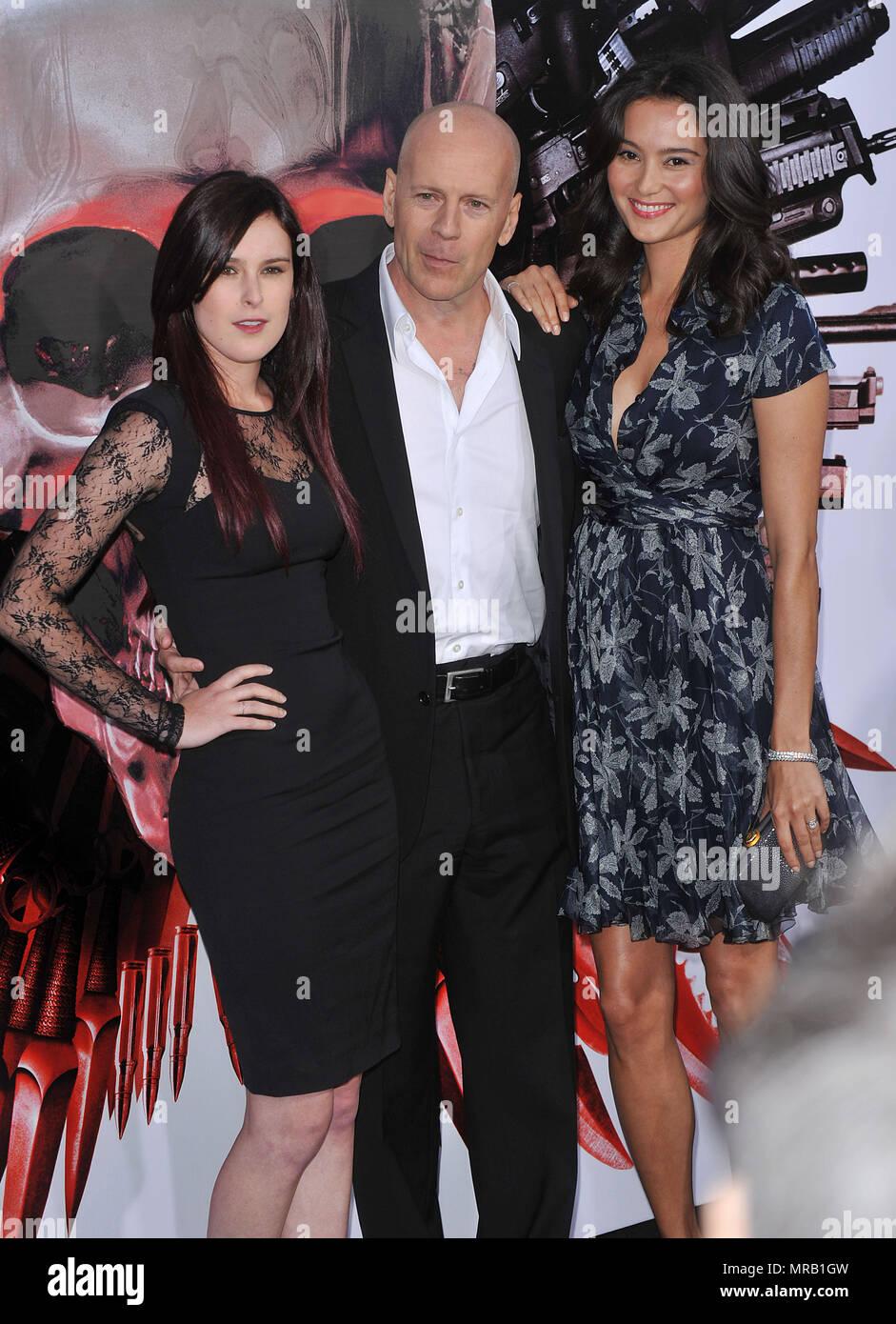 Rumer Willis, Bruce Willis and wife Emma Heming The ...