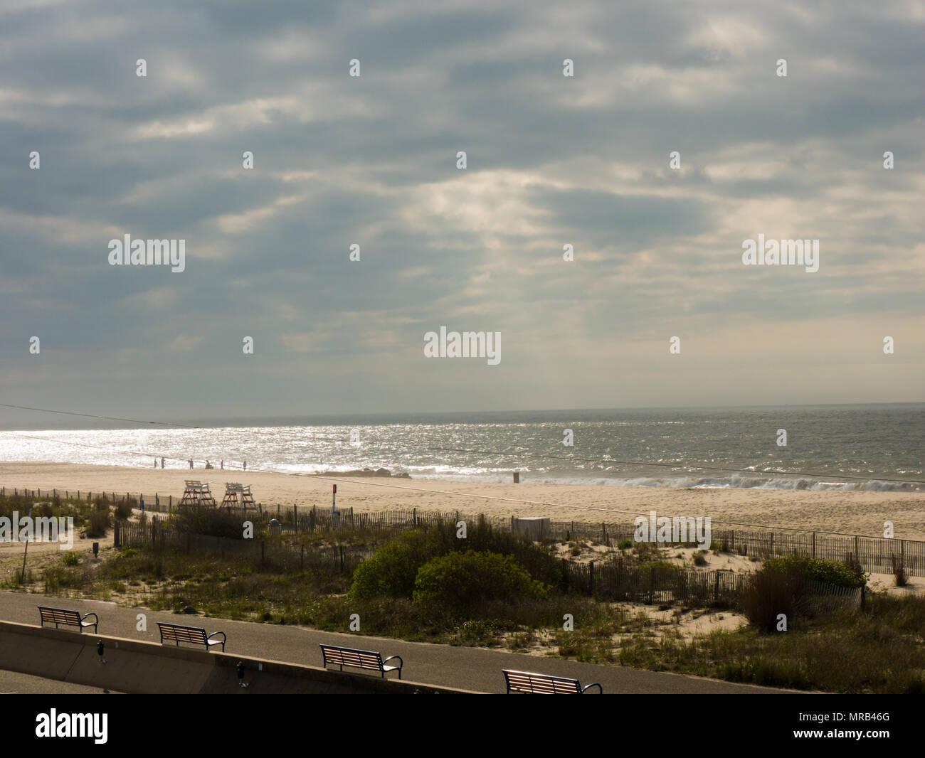 Cape May beach New Jersey - Stock Image