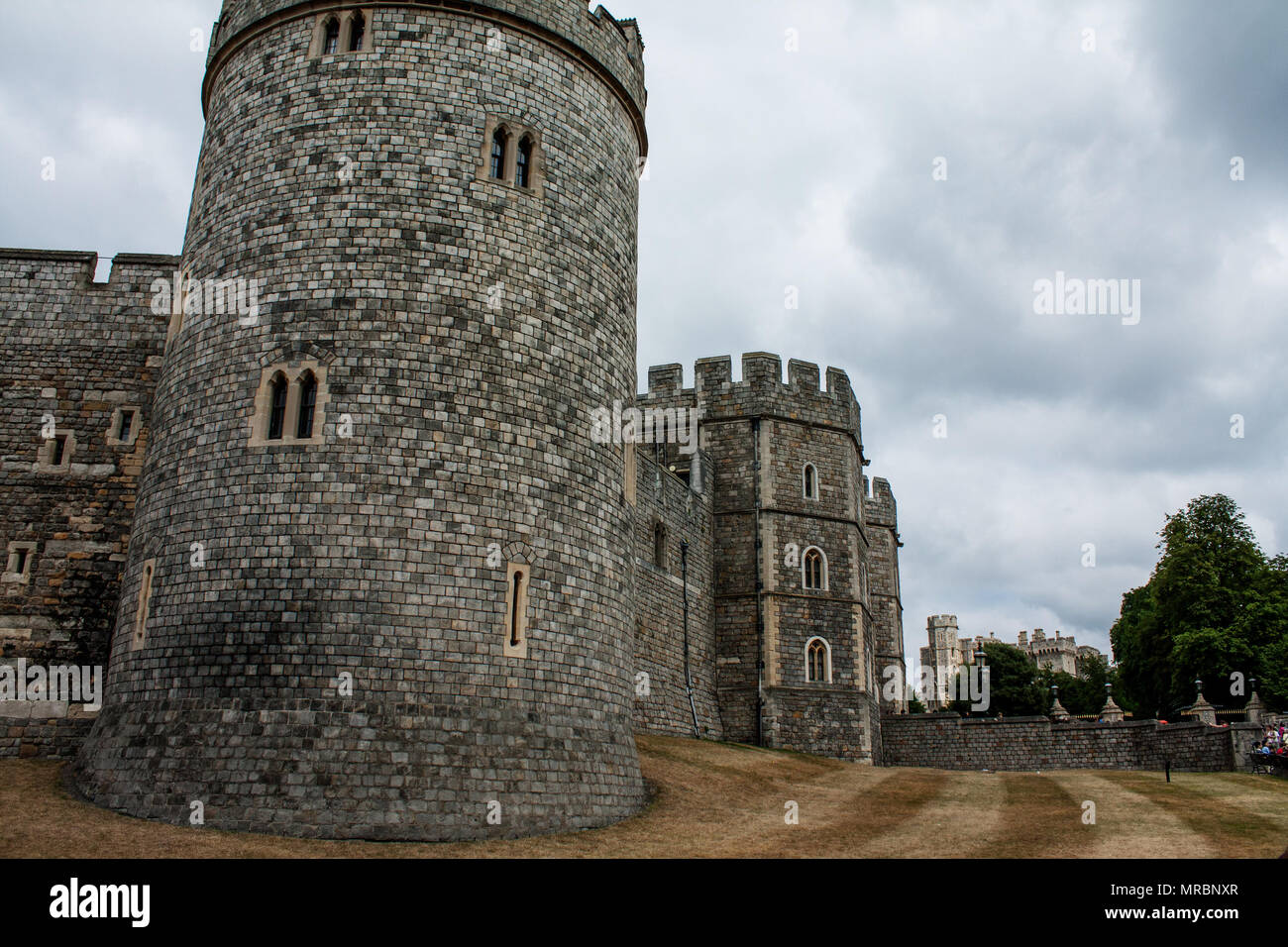 Outside view of the Henry VIII gateway in Windsor castle, residence of the british royal family in England, UK. - Stock Image