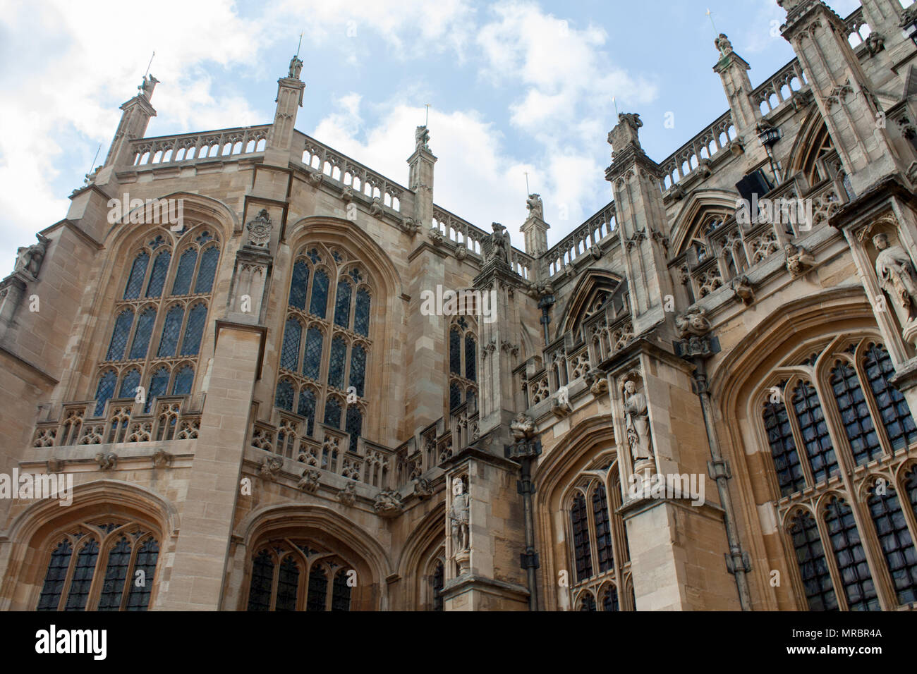 St George's Chapel in Windsor castle, residence of the british royal family in England, UK. - Stock Image