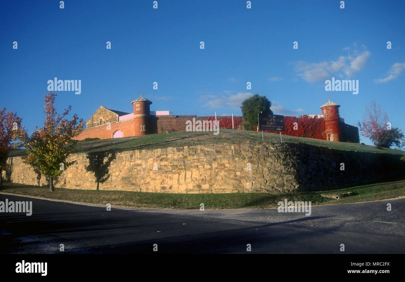 EXTERIOR VIEW OF THE OLD CASTLEMAINE GAOL (CLOSED IN 1990) CASTLEMAINE, VICTORIA, AUSTRALIA - Stock Image