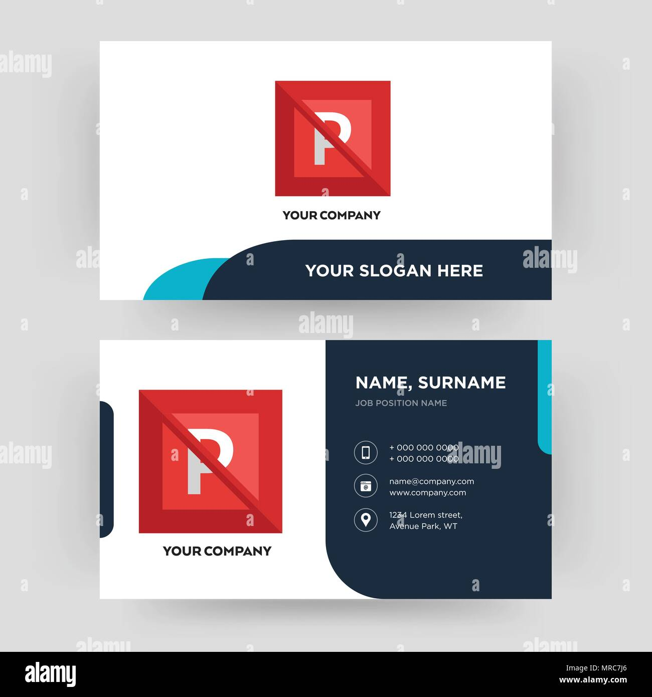 No Parking Business Card Design Template Visiting For Your Company Modern Creative And Clean Identity Vector