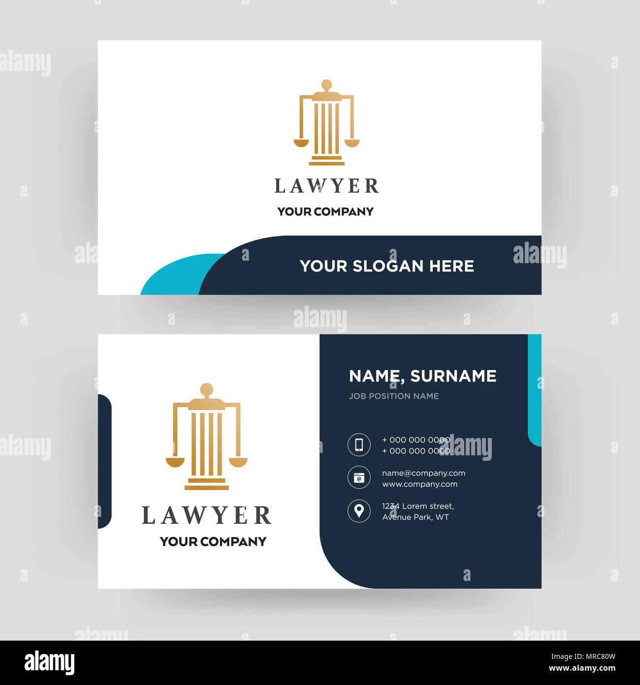 Lawyer business card design template visiting for your company lawyer business card design template visiting for your company modern creative and clean identity card vector cheaphphosting Gallery