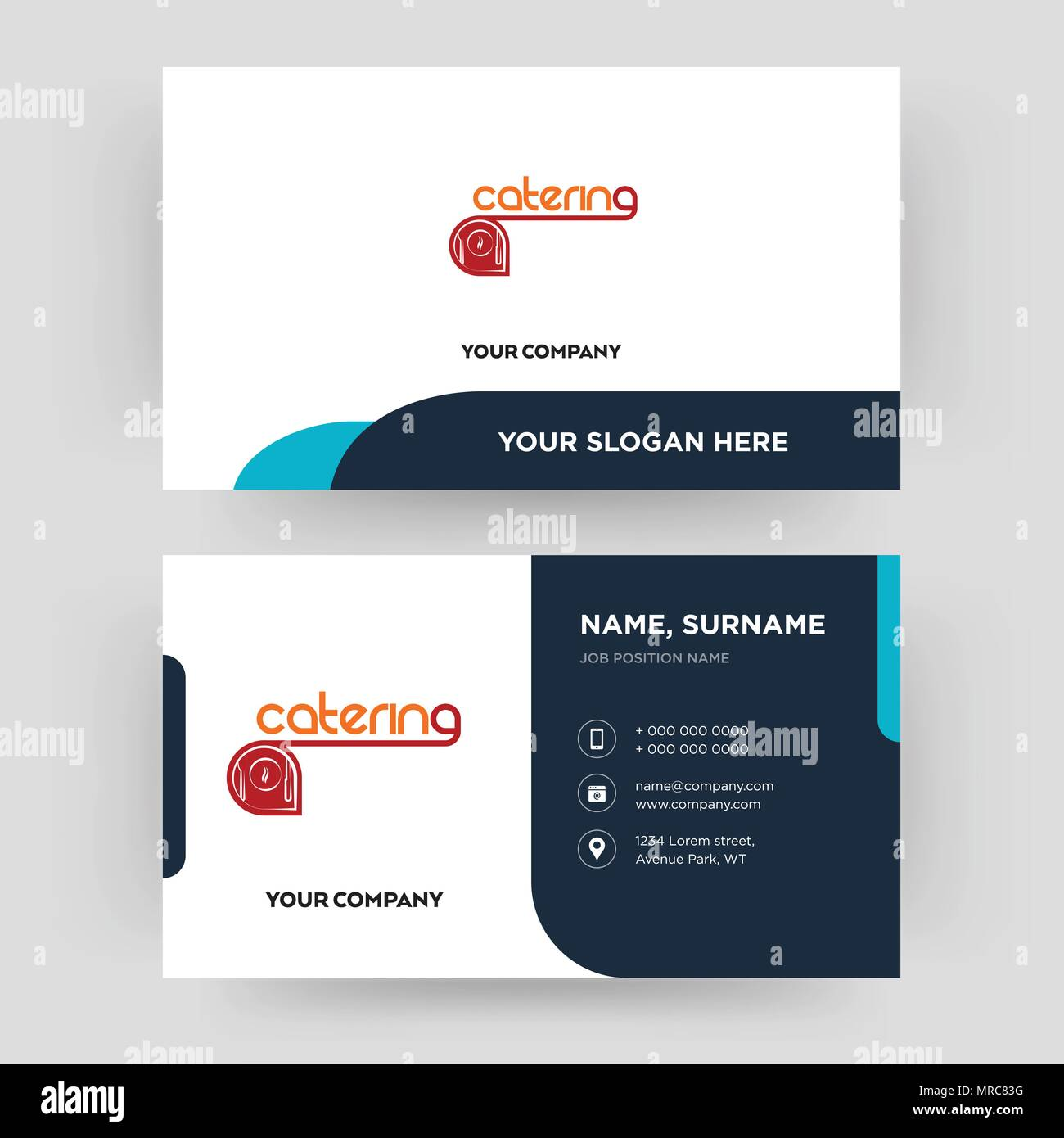 catering, business card design template, Visiting for your company ...