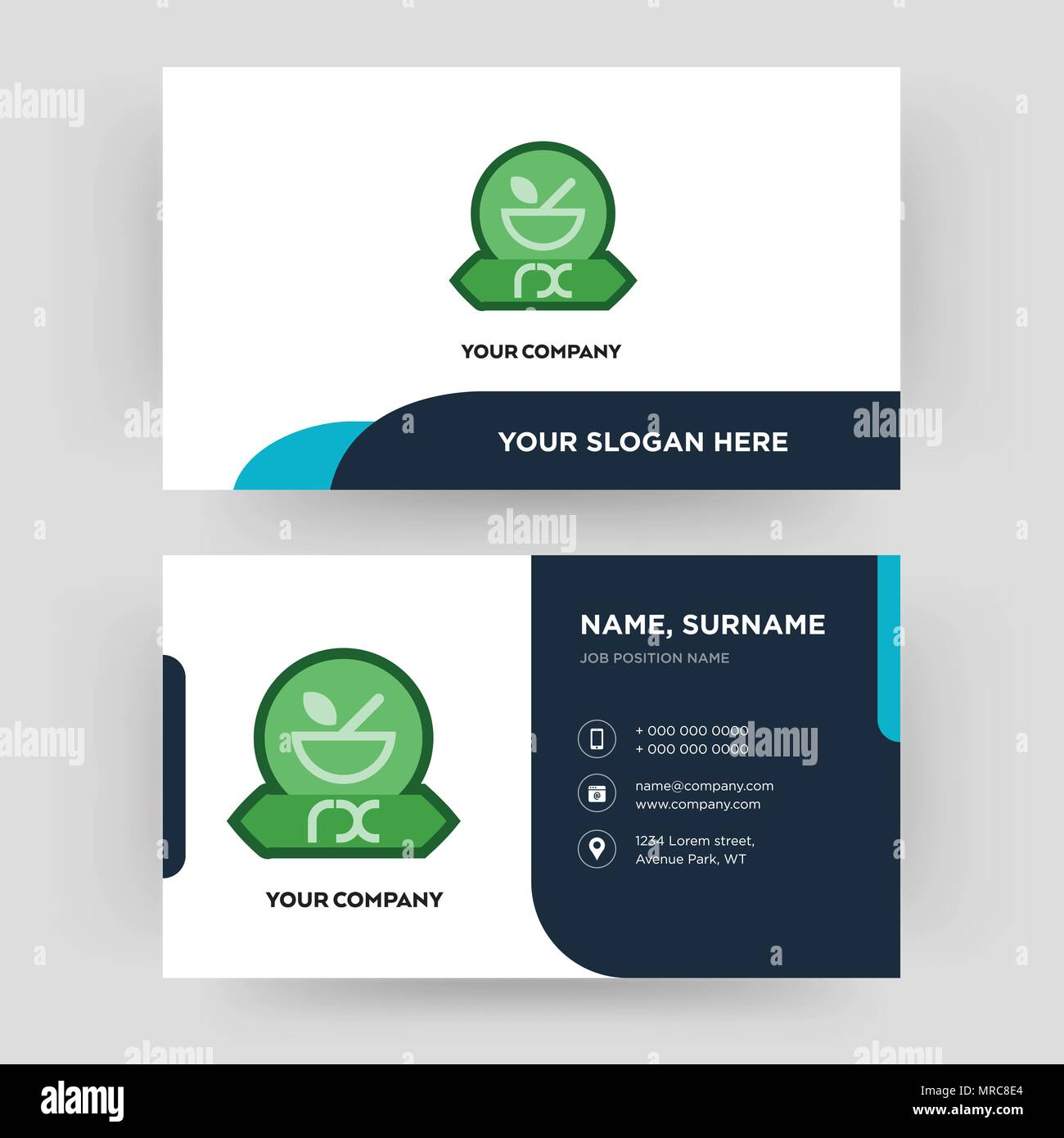 pharmacy business card design template visiting for your company