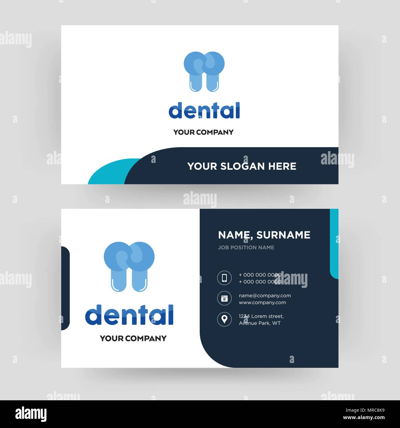 dental business card design template visiting for your company