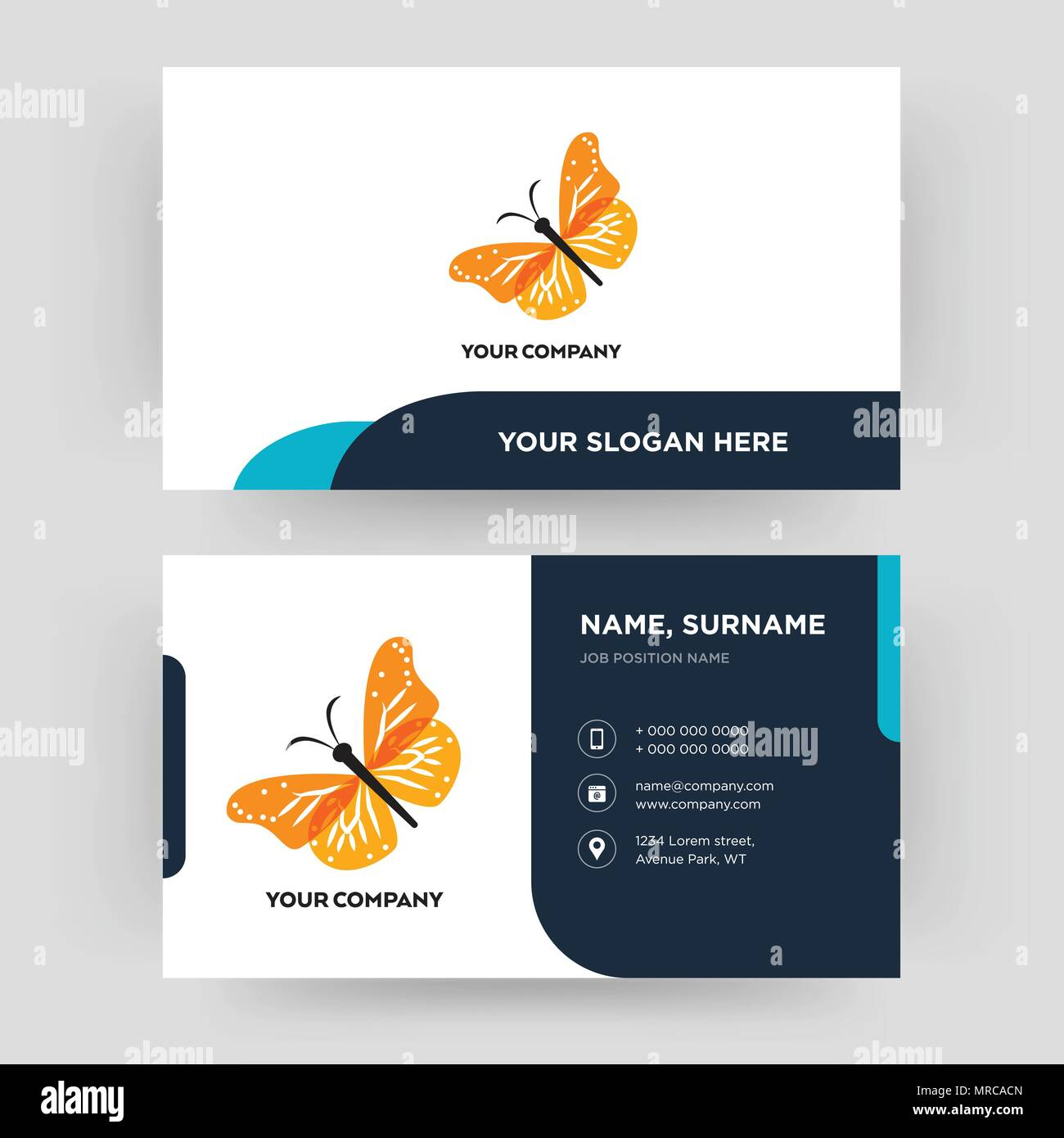 monarch butterfly, business card design template, Visiting for your ...