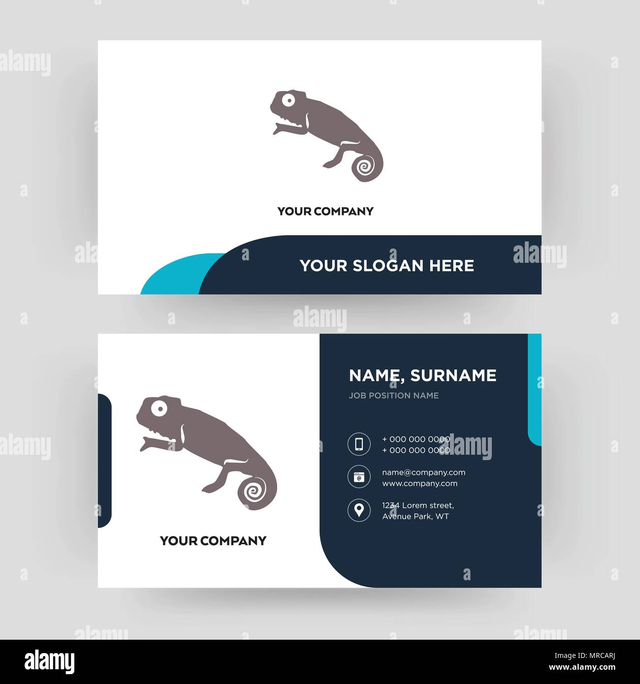 Chameleon Business Card Design Template Visiting For Your Company