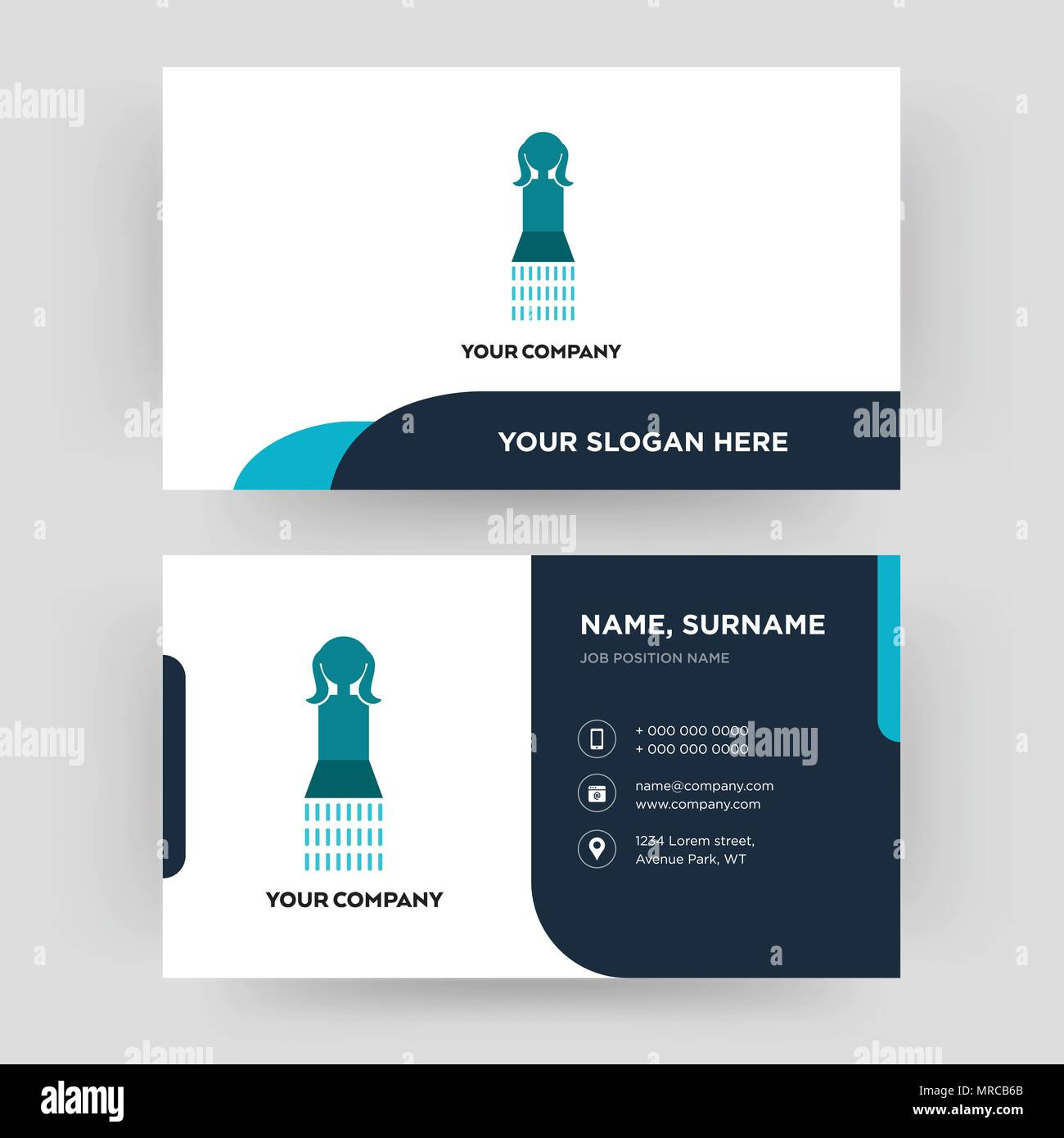 girls bathroom, business card design template, Visiting for your ...