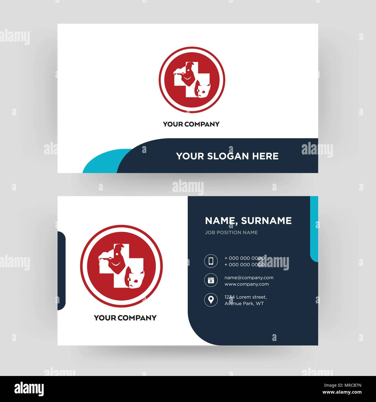 veterinary medicine, business card design template, Visiting for ...