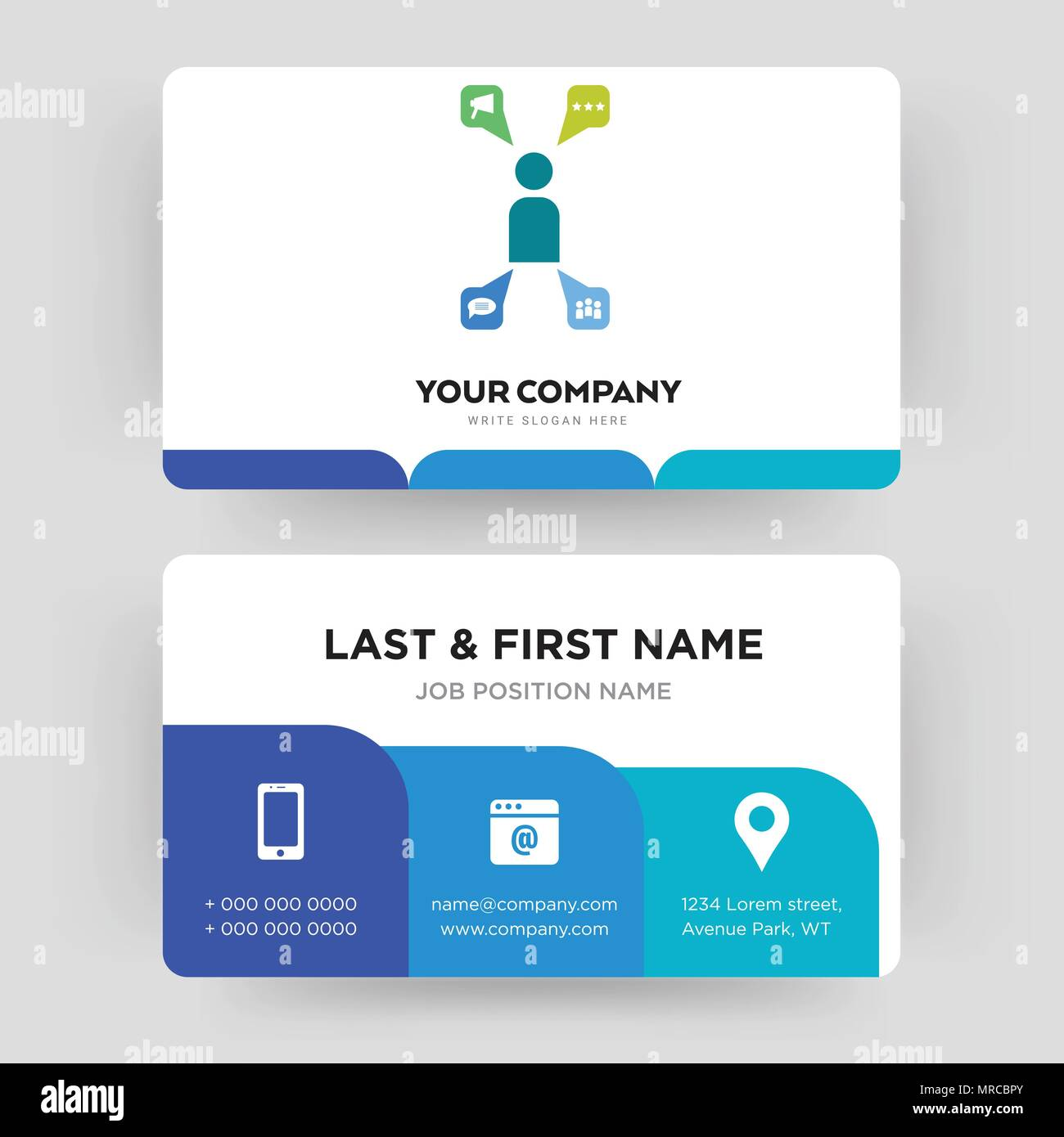 campaign management, business card design template, Visiting for ...